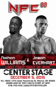 NFC 80 Fight Poster -  Nathan Williams vs. Jason Everhart