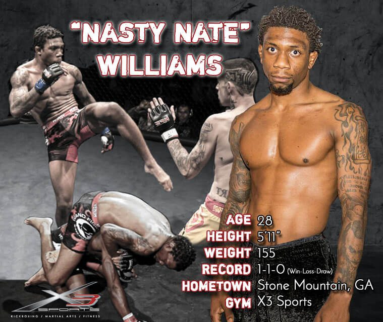 Nasty Nate Williams - Fight Stats