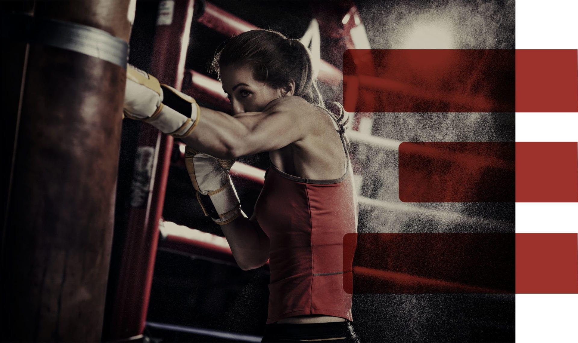 Woman boxing at X3 Sports