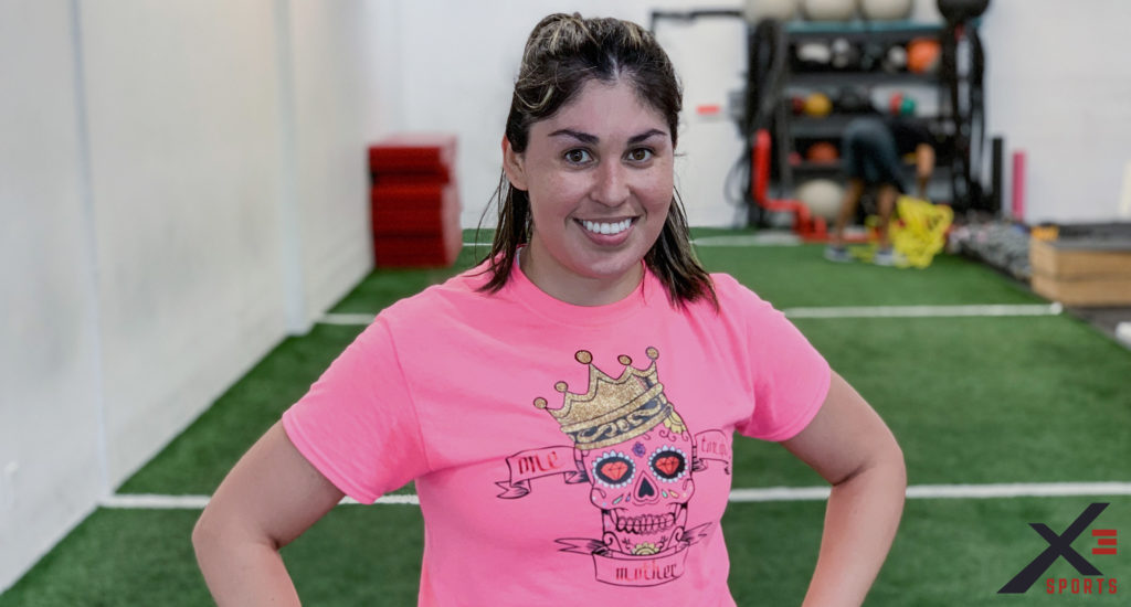 Aracely Morales taking picture after a Fast-Track Bootcamp Class at X3 Sports North Marietta Location.