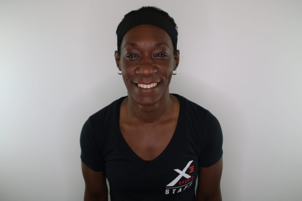 Rica Grandison, trainer at X3 Sports Inman Park. Rica teaches kickboxing, Muy Thai, Boxing, Fast Track, and Power Track.